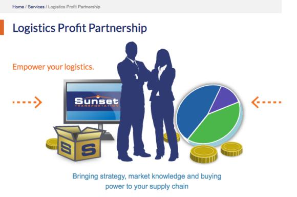 Logistics Sunset Transportation graphic