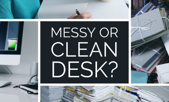 work messy clean desk