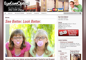 Eye Care Optical Website
